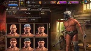 Gladiator Online Charaktererstellung