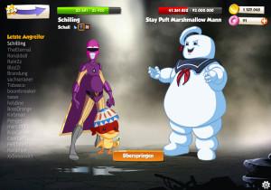 Ein Schurke (Marshmallow Mann) im Online-Browserspiel